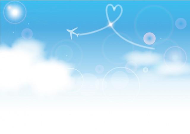 飛行機雲の背景1