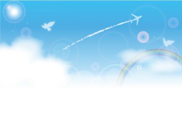 飛行機雲の背景2…