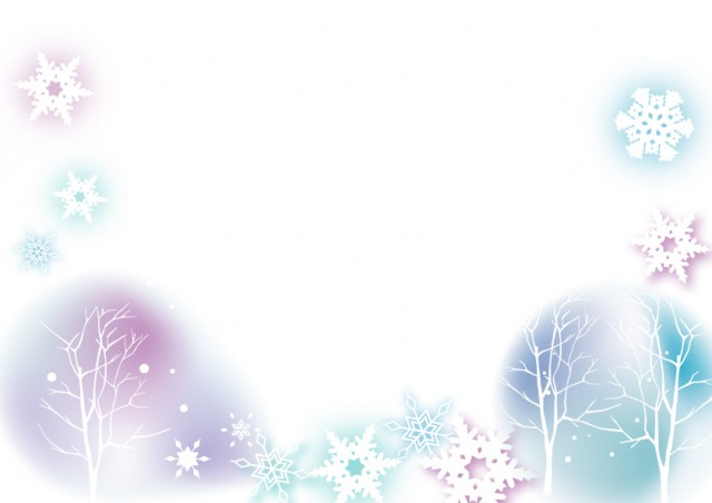 雪の結晶と木のフ…