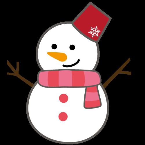 雪だるまイラスト【JPG、透過PNG】