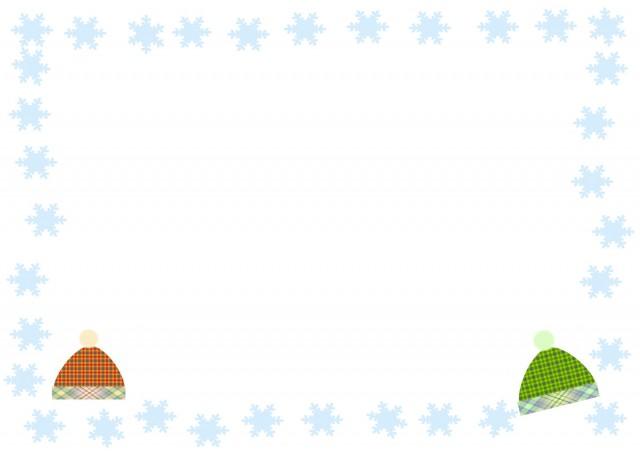雪の結晶とぼんぼ…