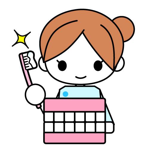 歯磨き指導・歯科衛生士イラスト