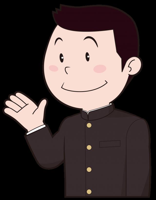 制服を着た学生素…
