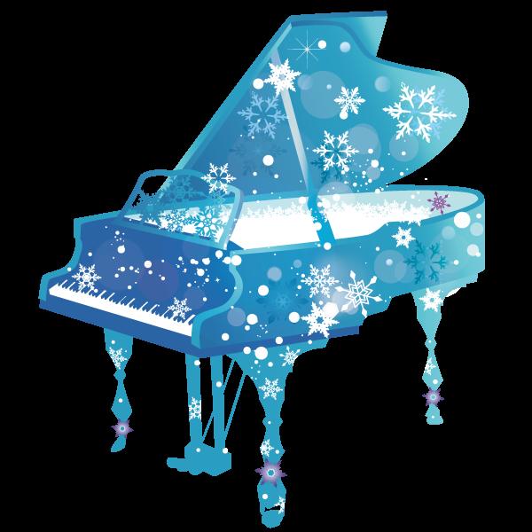 雪のピアノイラス…