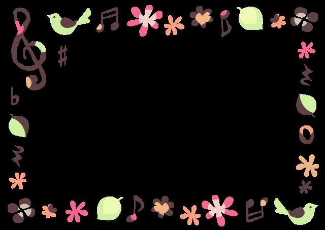 春の音楽フレーム 小鳥 | 無料 ...