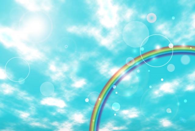 青空と虹のイラス…