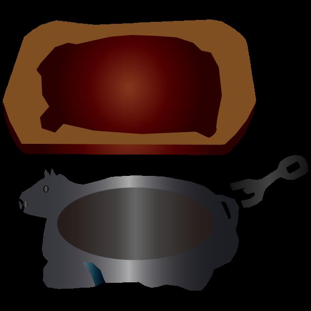 ステーキ皿 牛型…