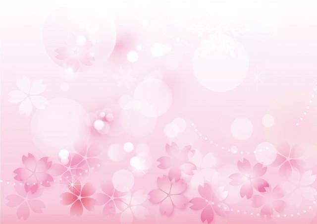 桜の花を使った背…