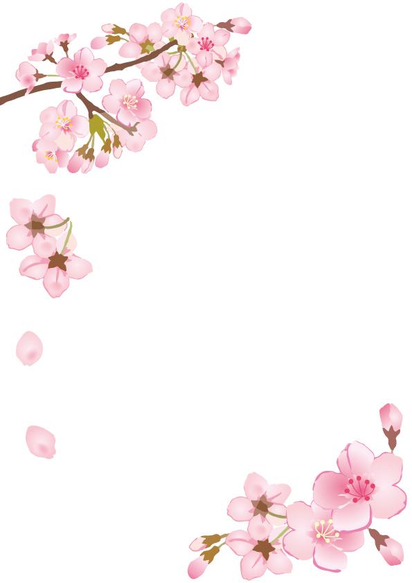 桜の枝フレーム【…