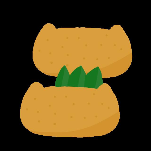 無料イラスト素材:いなり寿司のイラスト
