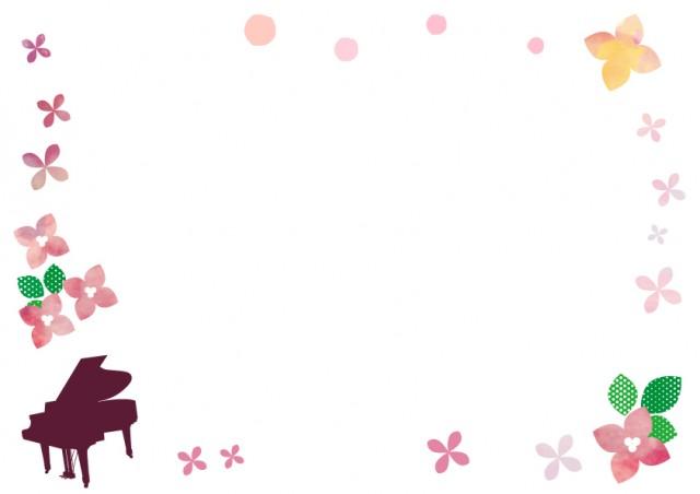 ピアノと花のフレ…