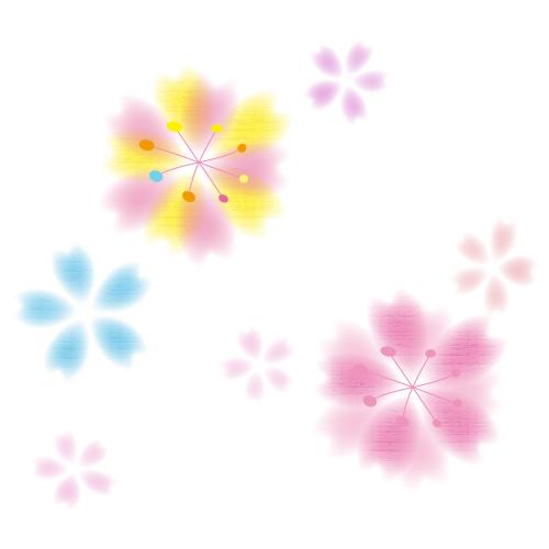 桜の花イラスト
