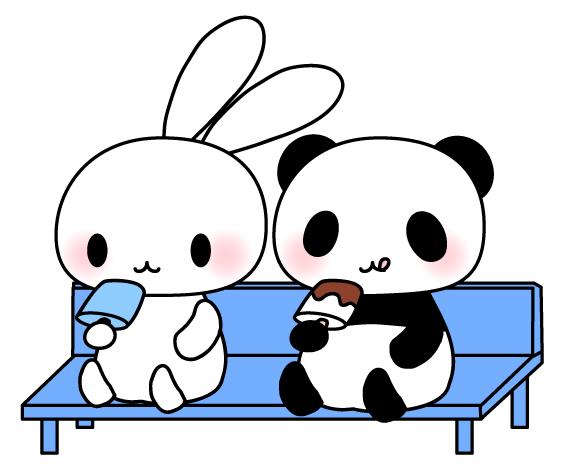 うさぎとパンダアイスクリーム ...
