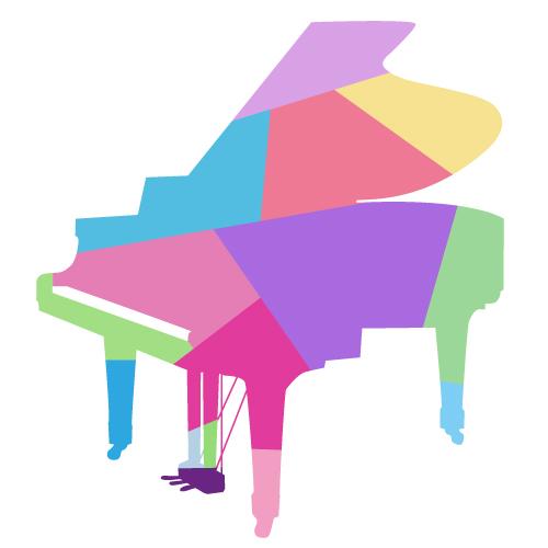 カラフルなピアノ…