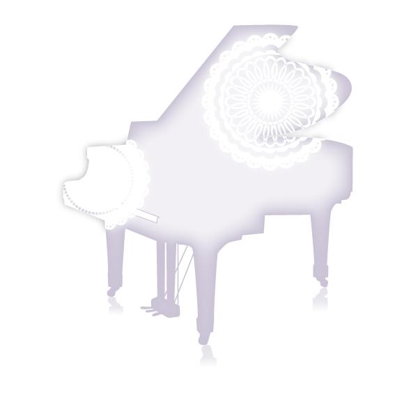 グランドピアノと…