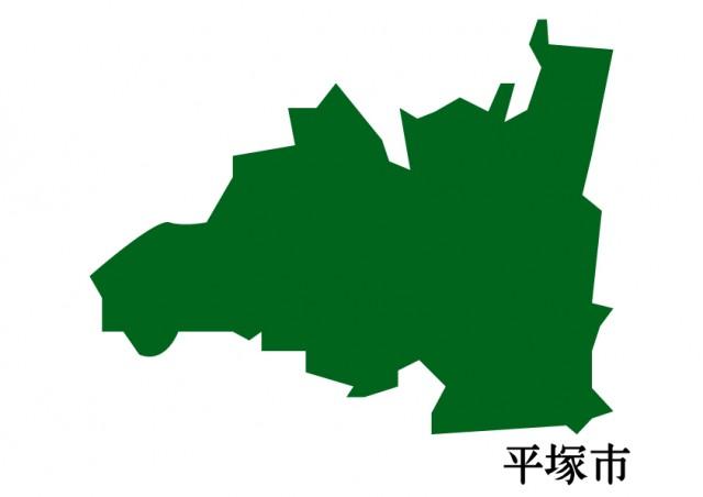 神奈川県平塚市(ひらつかし)の地図(緑塗り)   無料 ...