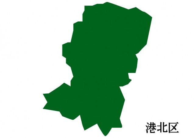神奈川県横浜市港北区(よこはましこうほくく)の地図(緑 ...