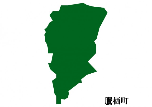 北海道鷹栖町(たかすちょう)の地図(緑塗り) | 無料 ...