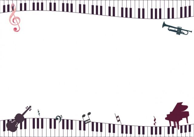 ピアノの鍵盤と楽…