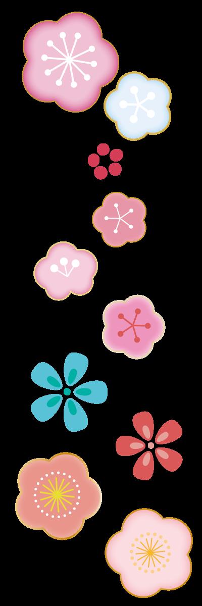 梅の花のライン素…