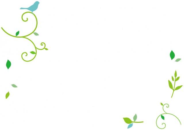 青い鳥と葉っぱの…