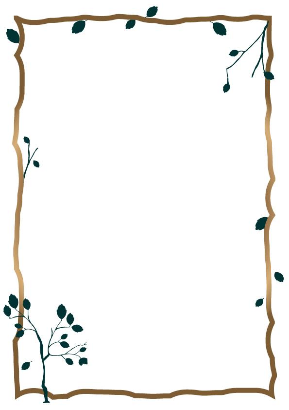 木と葉っぱのフレ…