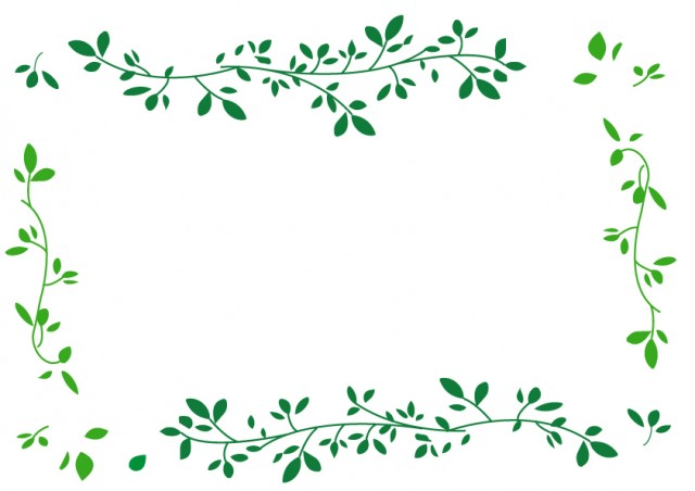 グリーンの葉っぱ…