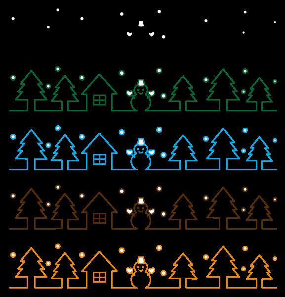 もみの木と雪だる…