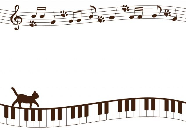 猫と鍵盤のフレー…