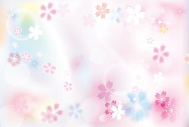 年賀状 桜の背景