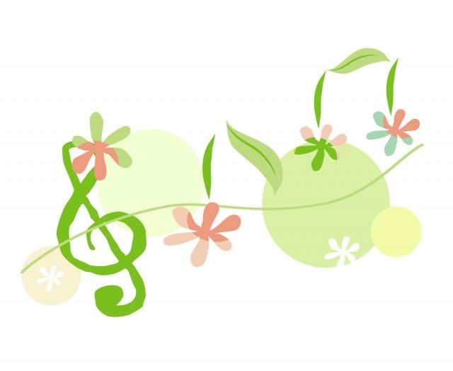 お花の音符 | 無料イラスト素材|素材ラボ