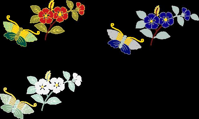 和風素材蝶と花アイコンcsaipng 無料イラスト素材素材ラボ