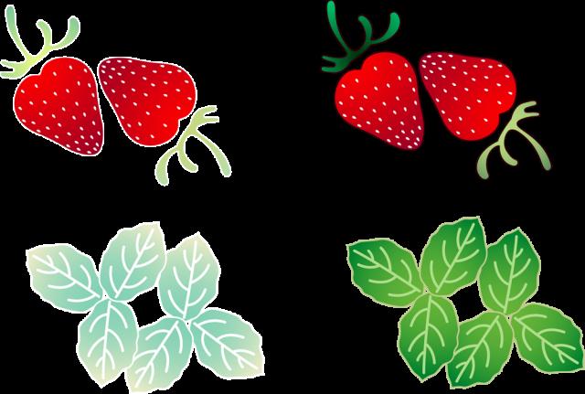 葉っぱつき苺アイコン Csai Png 無料イラスト素材 素材ラボ
