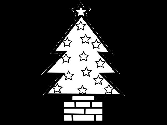 クリスマスツリー ぬりえ 無料イラスト素材素材ラボ
