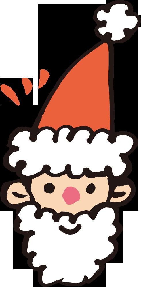 クリスマスのサンタクロース手書き風 無料イラスト素材素材ラボ