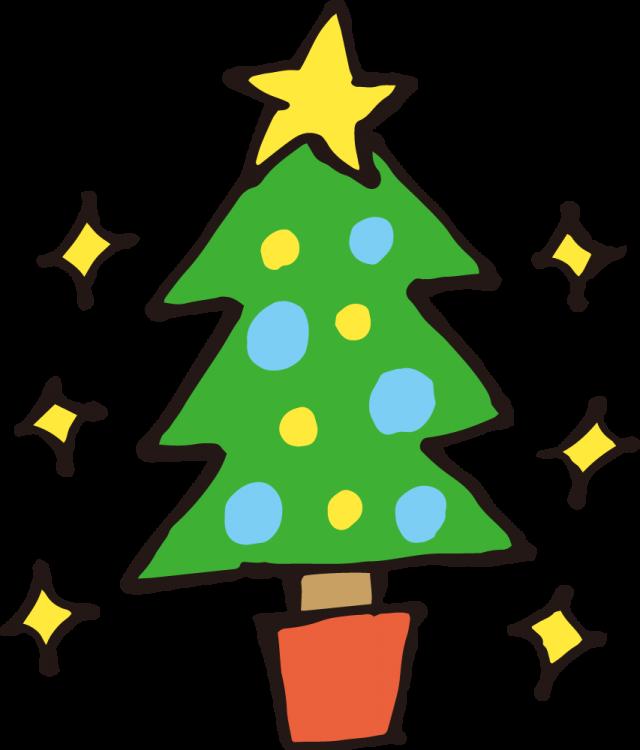 クリスマスツリー手書き風 無料イラスト素材素材ラボ