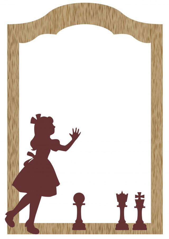 アリスの鏡フレーム 無料イラスト素材素材ラボ