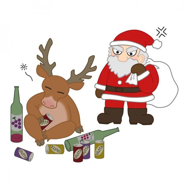 クリスマスのイラスト赤鼻のトナカイ② 無料イラスト素材素材ラボ