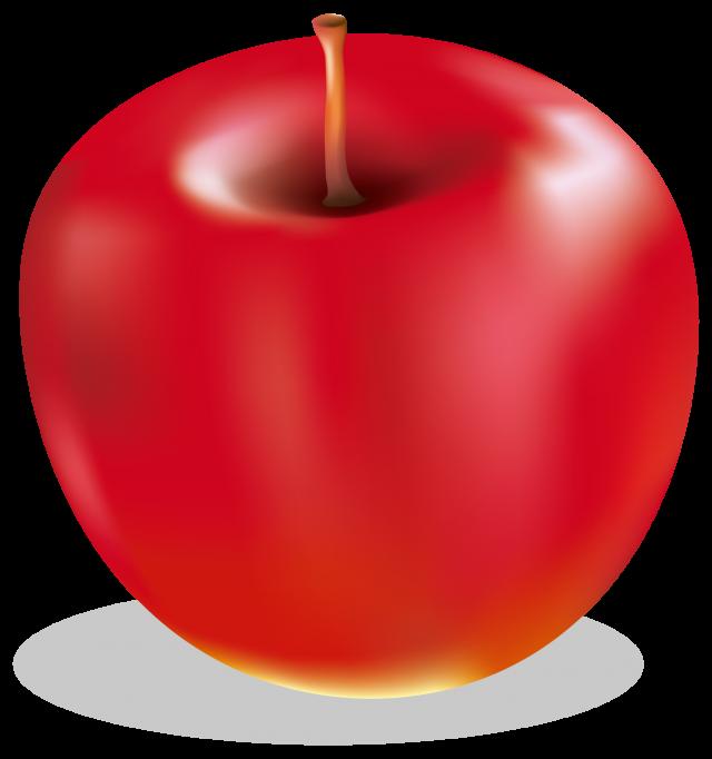 冬の食べ物 林檎 無料イラスト素材素材ラボ