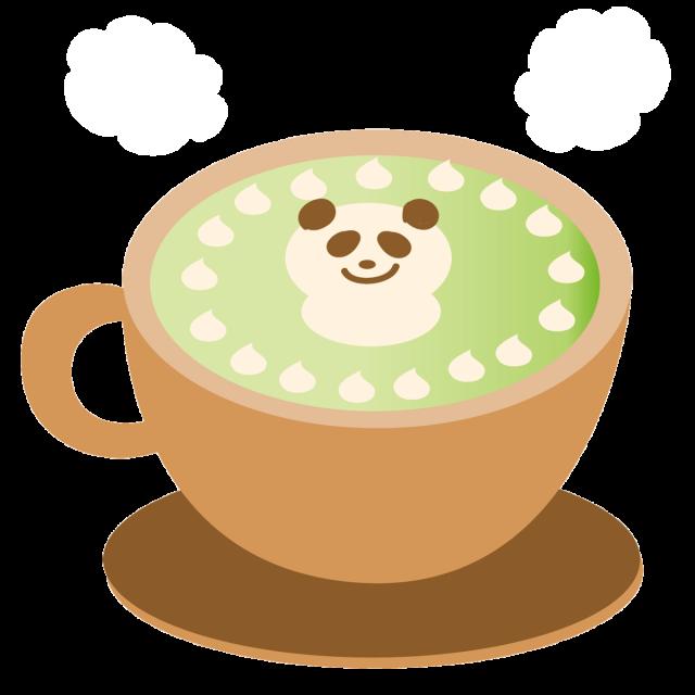 冬のホットドリンク 抹茶ラテ 無料イラスト素材素材ラボ