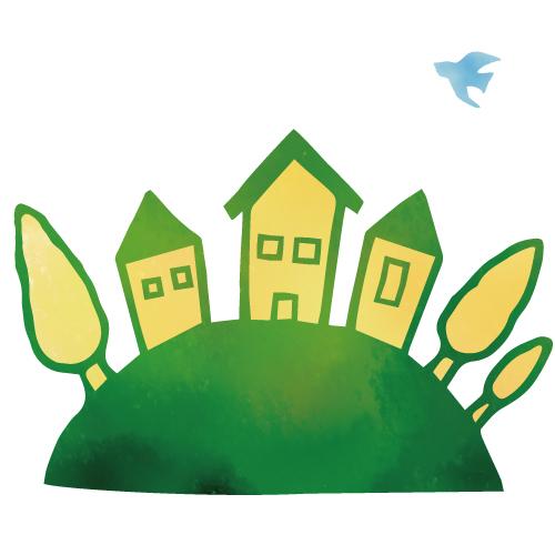 家と木のイラスト2 無料イラスト素材素材ラボ