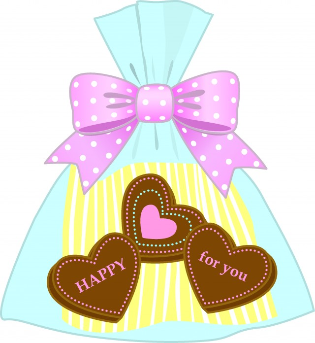 お菓子の小さなプレゼント 無料イラスト素材 素材ラボ
