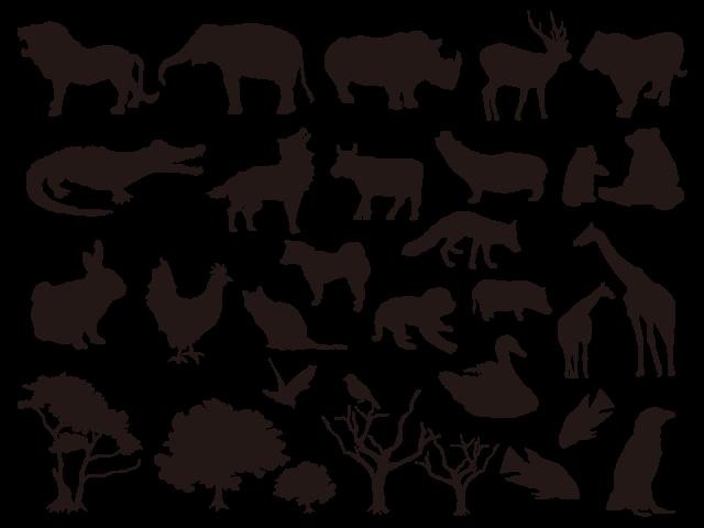 動物 シルエット 無料イラスト素材素材ラボ