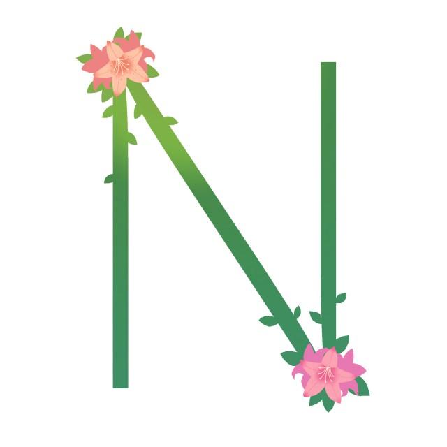 花文字のn 無料イラスト素材素材ラボ