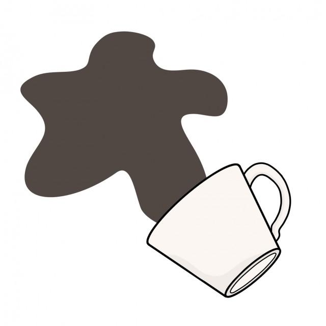 こぼしたイラスト倒れたコーヒーカップ 無料イラスト素材素材ラボ