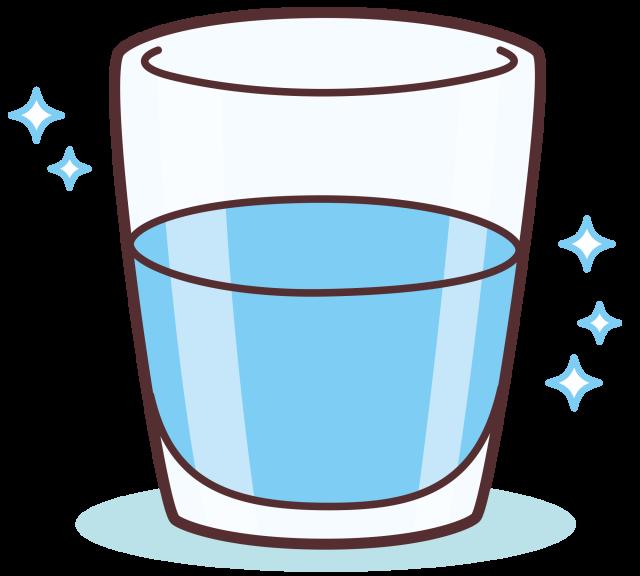 コップのお水 | 無料イラスト素材|素材ラボ