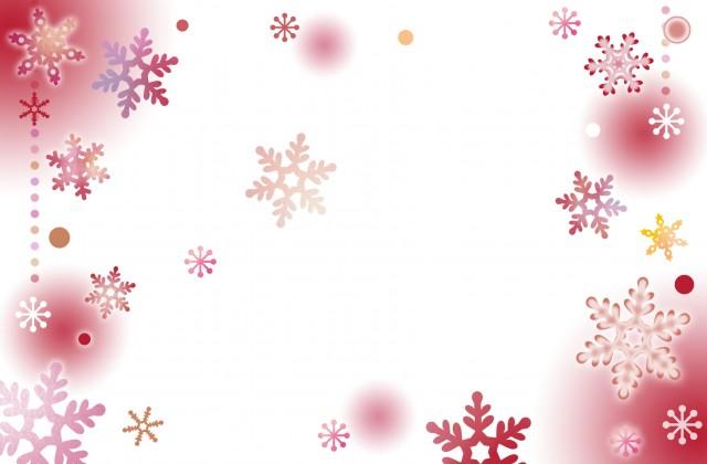 暖かい雪のフレーム 無料イラスト素材 素材ラボ