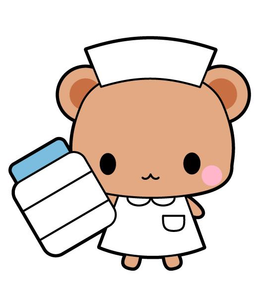 くまの看護師さんイラスト 無料イラスト素材 素材ラボ