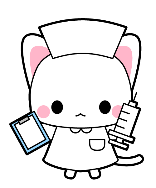 猫の看護師さんイラスト素材 無料イラスト素材素材ラボ