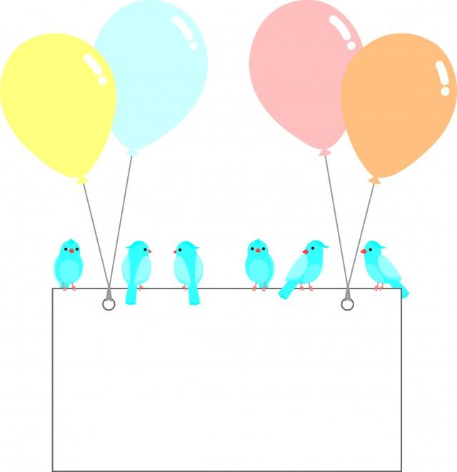 青い鳥と風船のメ…